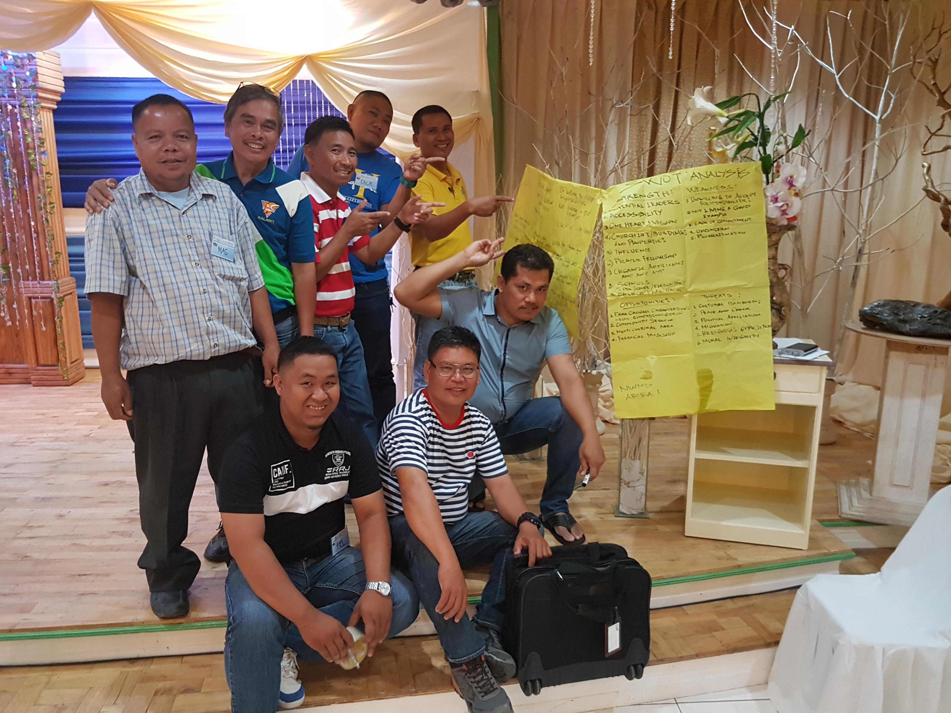 A group of training participants in the Philippines
