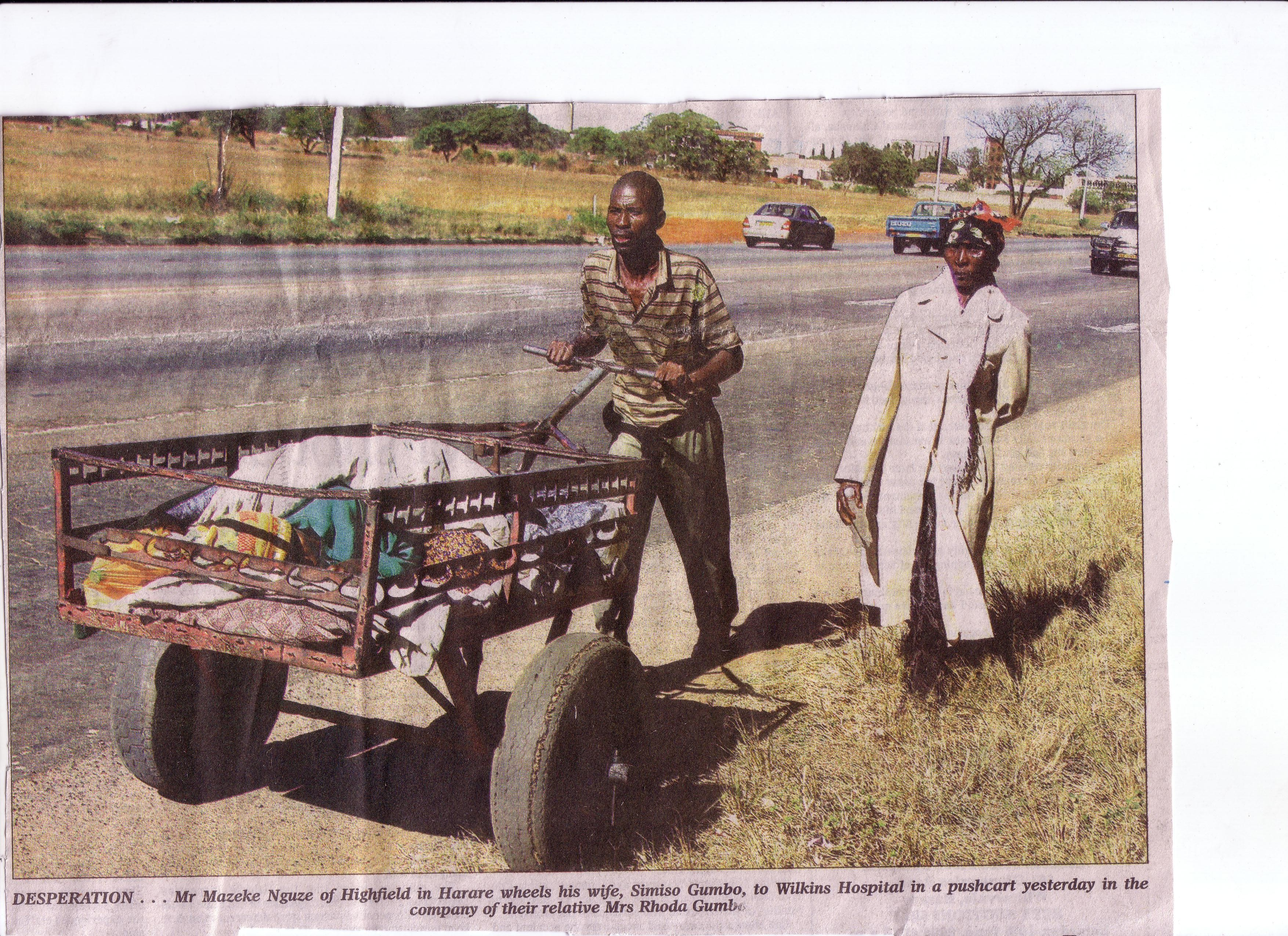 A 2006 newspaper clipping from the Harare Herald in Zimbabwe.