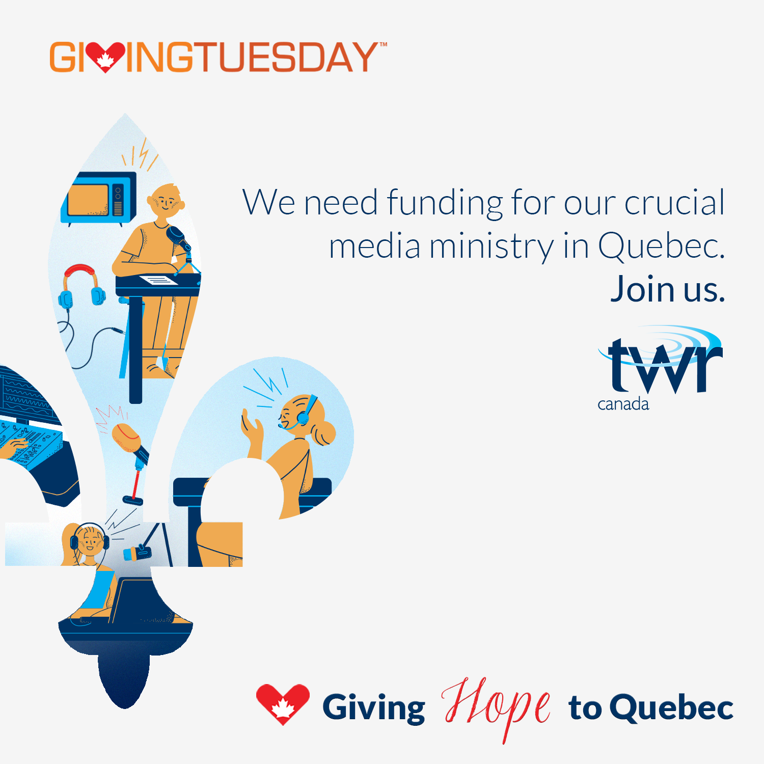 Giving Hope to Quebec